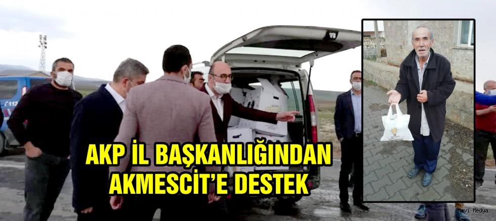 AKP İL BAŞKANLIĞINDAN AKMESCİTE DESTEK