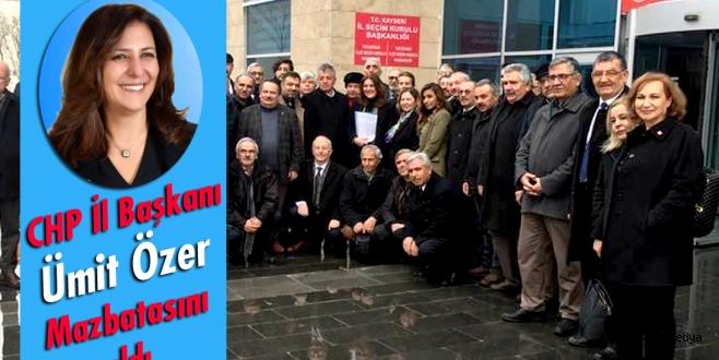 CHP İl Başkanı Ümit Özer Mazbatasını Aldı