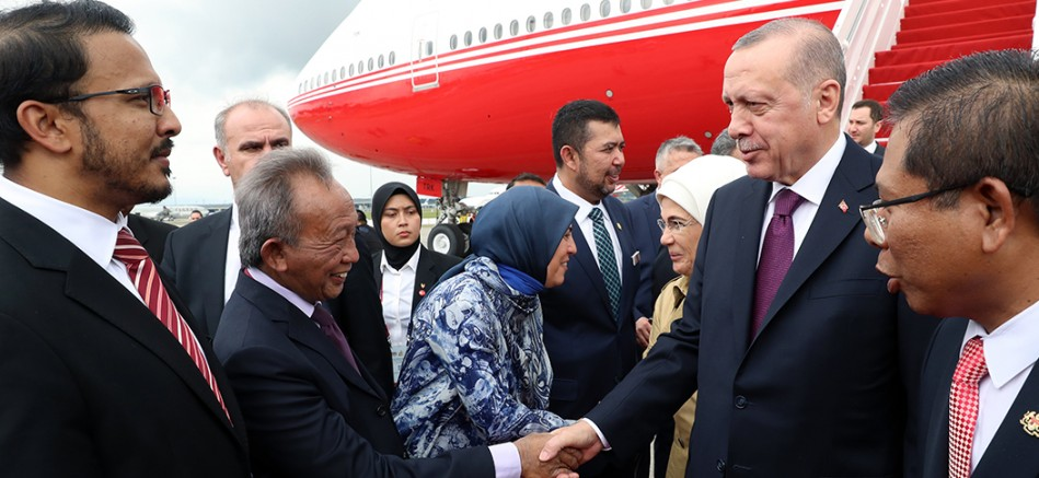 Cumhurbaşkanı Erdoğan, Malezya'nın başkenti Kuala Lumpur'a gitti