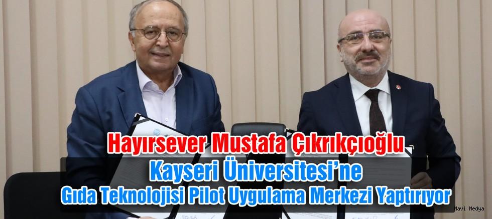 Kayseri Üniversitesi'ne Hayırsever Desteği