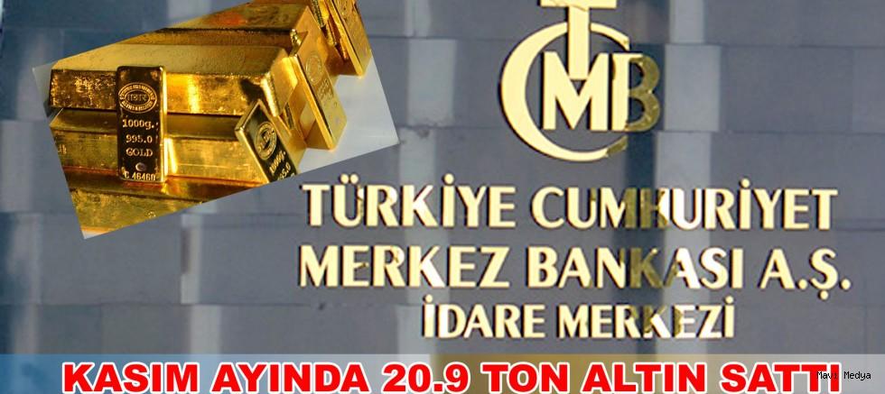 Merkez Bankası'ndan rekor altın satışı