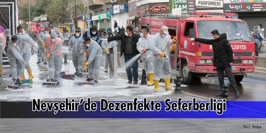 Nevşehir'de Dezenfekte Seferberliği