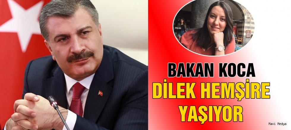 Sağlık Bakanı Fahrettin Koca,  hemşire Dilek Akçabelen'in öldüğü haberlerini yalanladı.