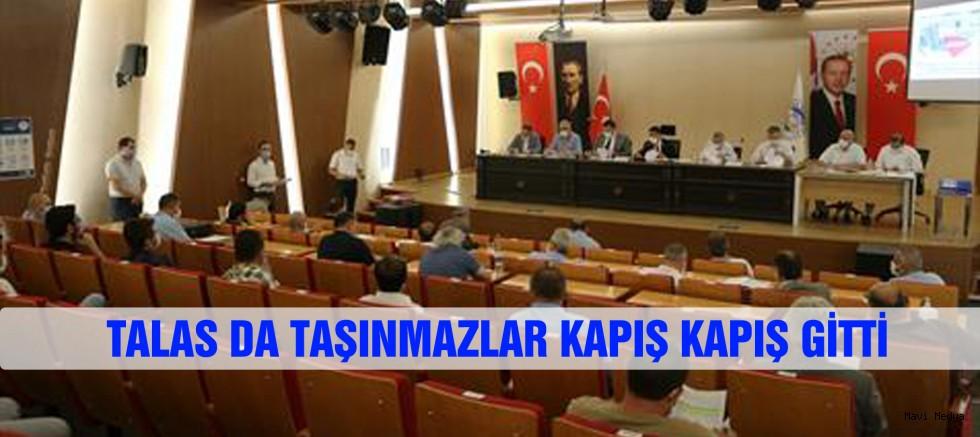 Talas Belediyesi'ne ait çeşitli mevkilerdeki 11 parça taşınmazın satışı gerçekleşti.